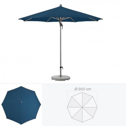 Parasol FORTERO de Glatz rond D.350 cm bleu de prusse