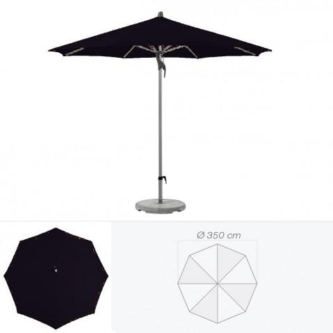 Parasol FORTERO de Glatz rond D.350 cm Noir d'anilime