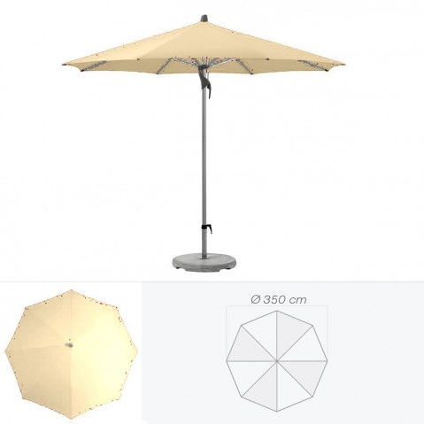 Parasol FORTERO de Glatz rond D.350 cm sable