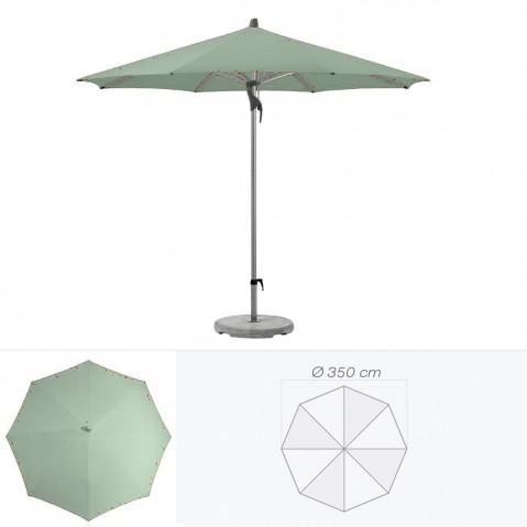 Parasol FORTERO de Glatz rond D.350 cm vert de gris