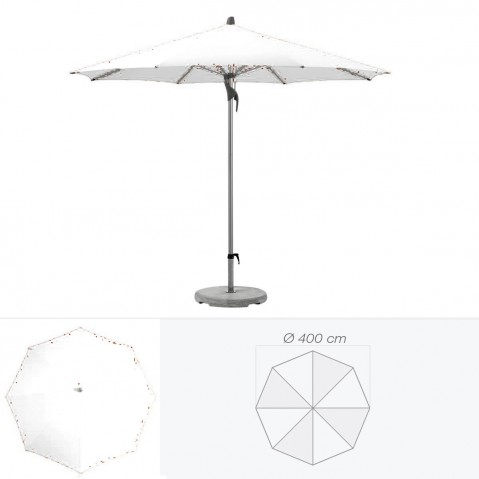 Parasol FORTERO de Glatz rond D.400 cm argile