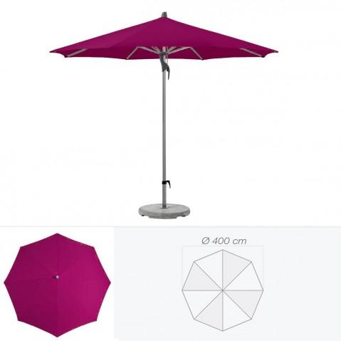 Parasol FORTERO de Glatz rond D.400 cm prune