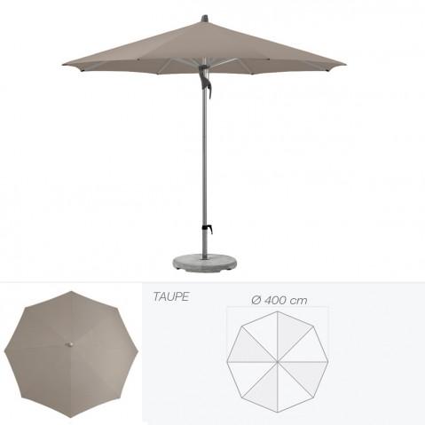 Parasol FORTERO de Glatz rond D.400 cm taupe