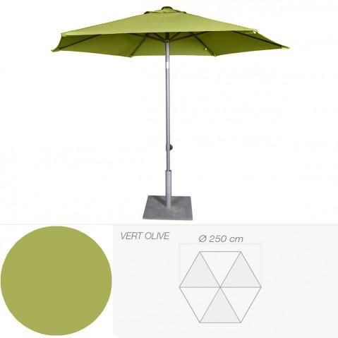 Parasol inclinable BONAIR de Jardinico D.250 cm vert olive