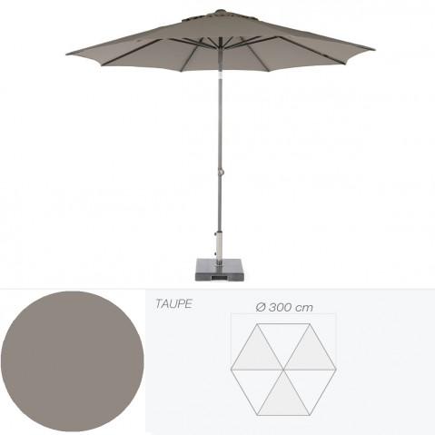 Parasol inclinable BONAIR de Jardinico D.300 cm taupe