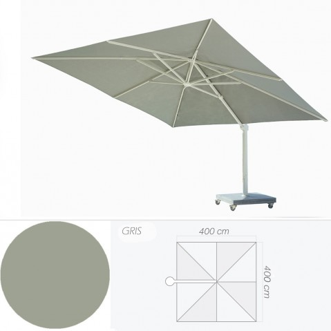 Parasol KINGSTON de Jardinico, Gris et Blanc
