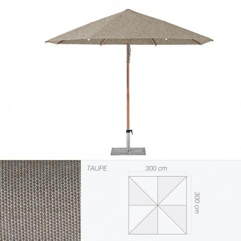 Parasol PIAZZINO de Glatz carré 300x300 cm taupe
