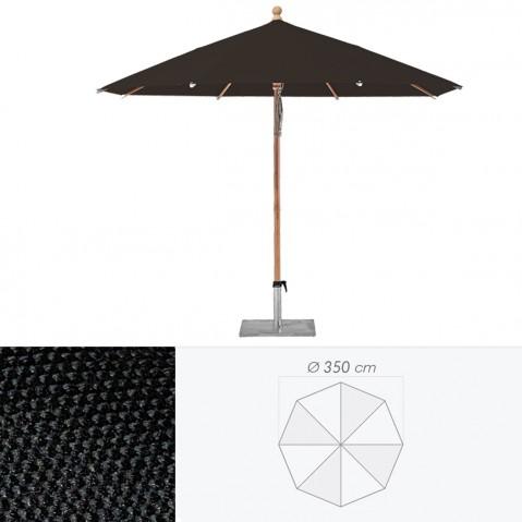 Parasol PIAZZINO de Glatz, D. 350 Noir d''aniline