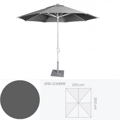 Parasol RIVIERA de Jardinico 200x300 cm gris sombre