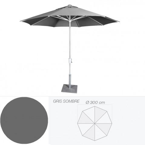 Parasol RIVIERA de Jardinico D.300 cm gris sombre