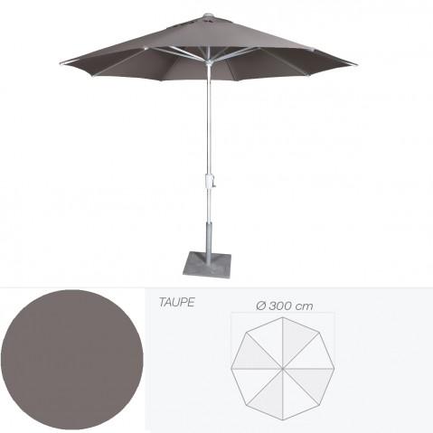 Parasol RIVIERA de Jardinico D.300 cm taupe