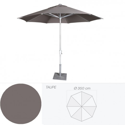 Parasol RIVIERA de Jardinico D.350 cm taupe