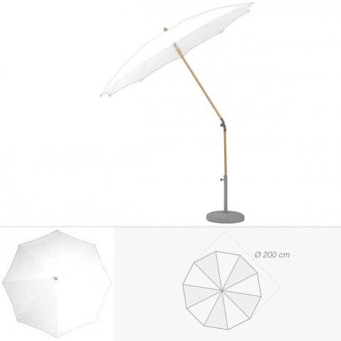 Parasol rond ALEXO de Glatz D.200 cm argile