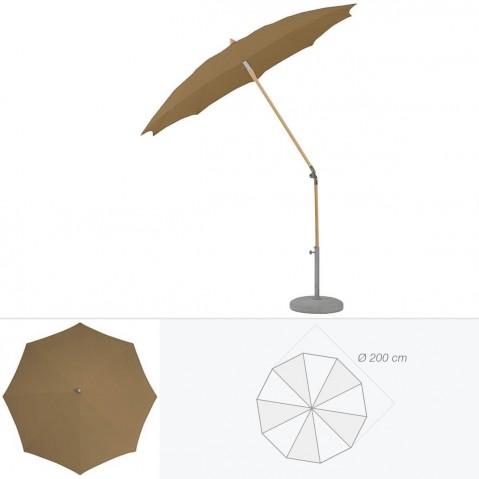 Parasol rond ALEXO de Glatz D.200 cm bistre