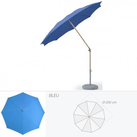 Parasol rond ALEXO de Glatz D.200 cm bleu