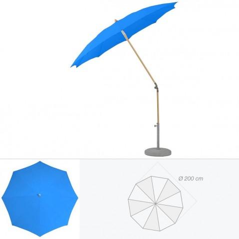 Parasol rond ALEXO de Glatz D.200 cm bleu roi