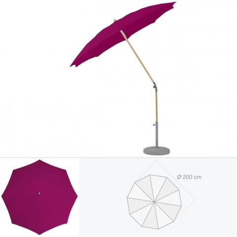 Parasol rond ALEXO de Glatz D.200 cm prune