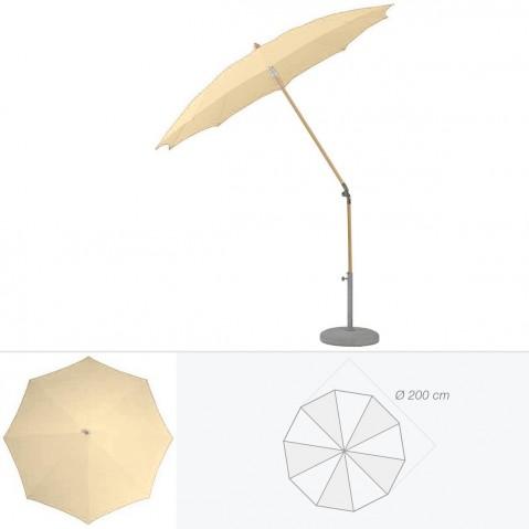Parasol rond ALEXO de Glatz D.200 cm sable