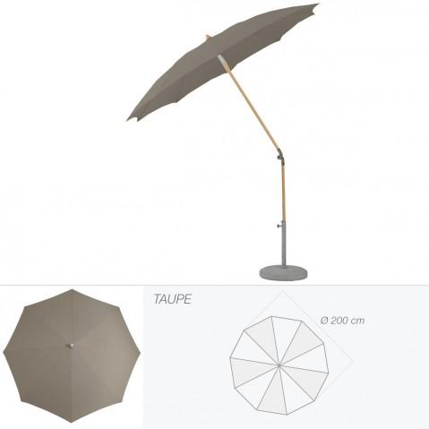 Parasol rond ALEXO de Glatz D.200 cm taupe