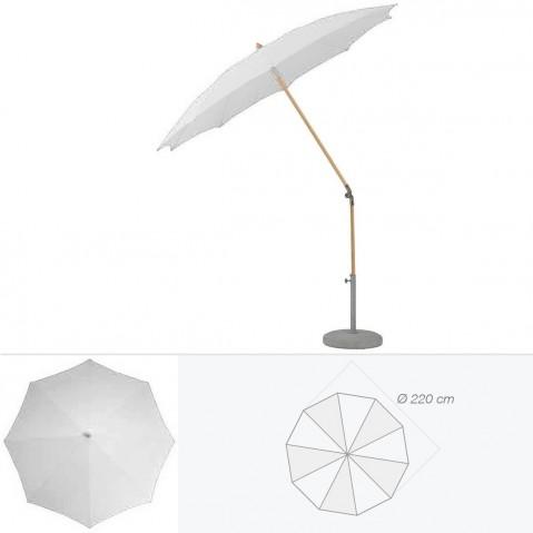 Parasol rond ALEXO de Glatz D.220 cm argent