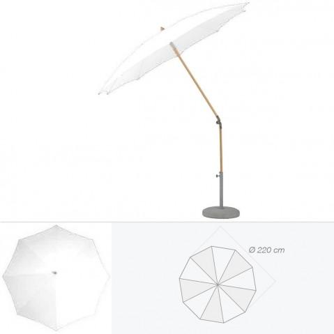 Parasol rond ALEXO de Glatz D.220 cm argile
