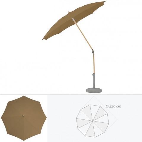 Parasol rond ALEXO de Glatz D.220 cm bistre