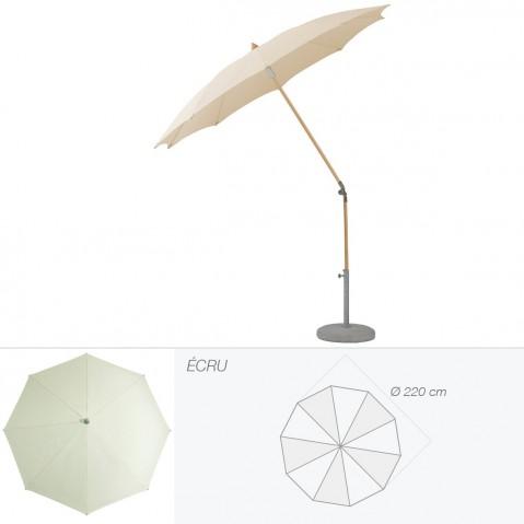 Parasol rond ALEXO de Glatz D.220 cm écru