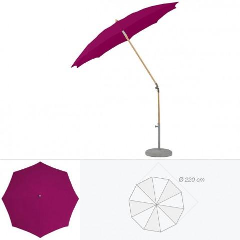 Parasol rond ALEXO de Glatz D.220 cm prune