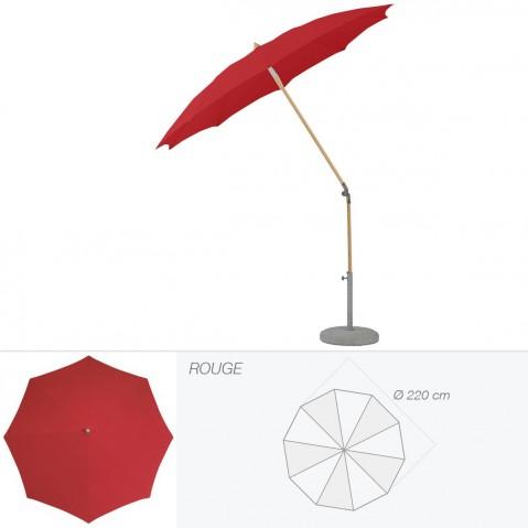 Parasol rond ALEXO de Glatz D.220 cm rouge