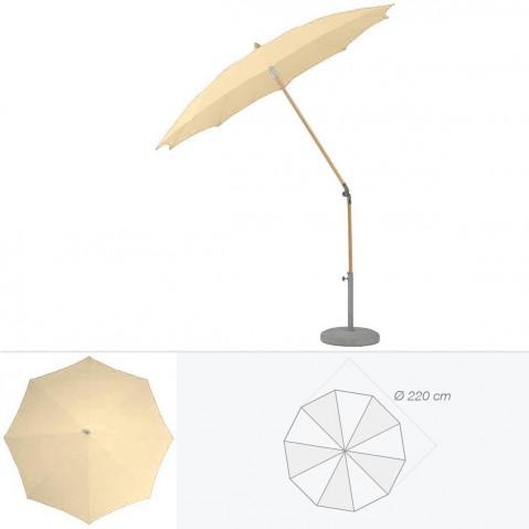 Parasol rond ALEXO de Glatz D.220 cm sable