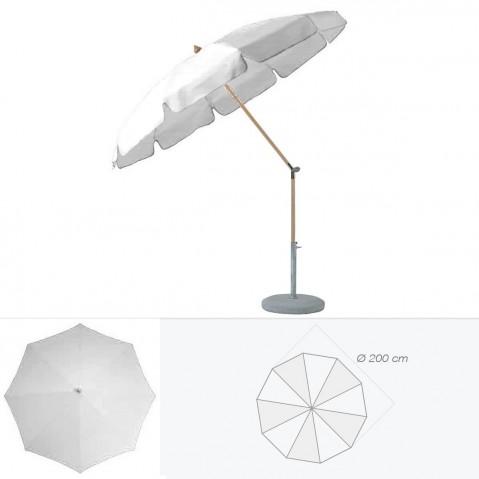Parasol rond avec volant ALEXO de Glatz D.200 cm argent