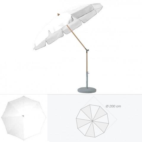 Parasol rond avec volant ALEXO de Glatz D.200 cm argile