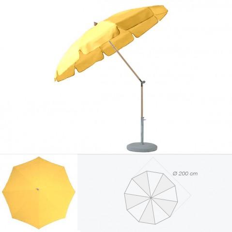 Parasol rond avec volant ALEXO de Glatz D.200 cm aurore