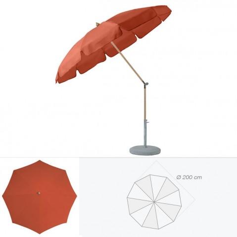 Parasol rond avec volant ALEXO de Glatz D.200 cm rouge tomette