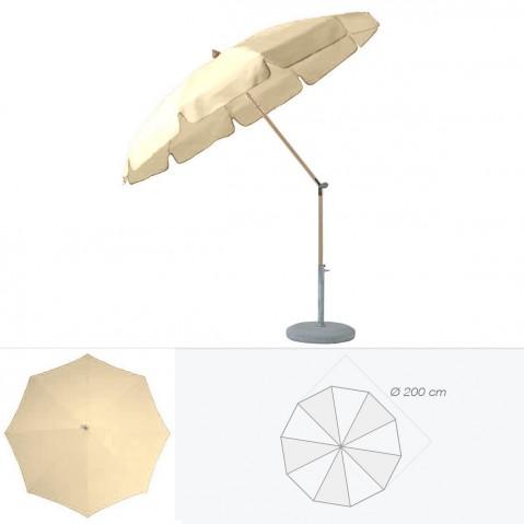 Parasol rond avec volant ALEXO de Glatz D.200 cm sable
