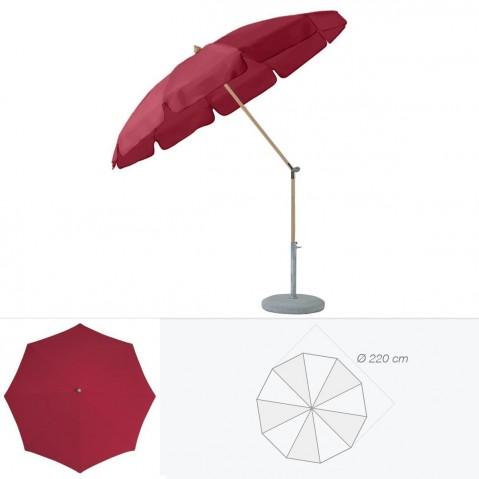 Parasol rond avec volant ALEXO de Glatz D.220 cm amarante