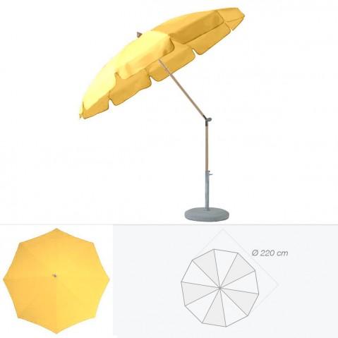 Parasol rond avec volant ALEXO de Glatz D.220 cm aurore