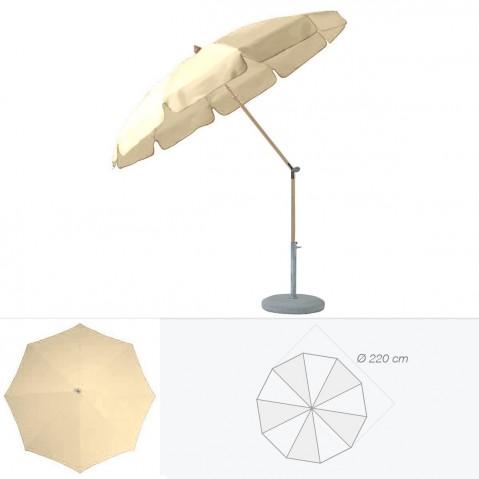 Parasol rond avec volant ALEXO de Glatz D.220 cm sable