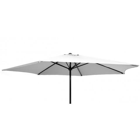 Parasol rond GEDEON en aluminium, Blanc