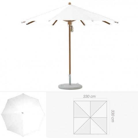 Parasol TEAKWOOD de Glatz carré argile