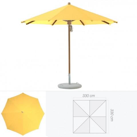 Parasol TEAKWOOD de Glatz carré aurore