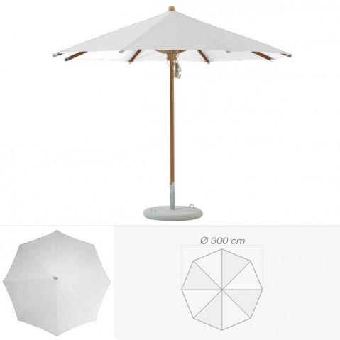 Parasol TEAKWOOD de Glatz rond D.300 cm argent