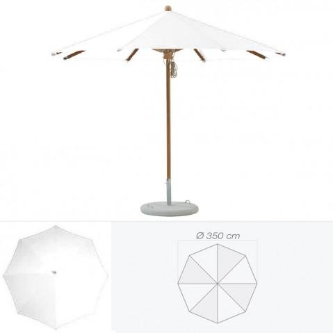 Parasol TEAKWOOD de Glatz rond D.350 cm argile