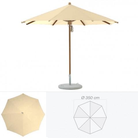 Parasol TEAKWOOD de Glatz rond D.350 cm sable