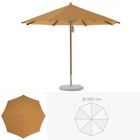 Parasol TEAKWOOD de Glatz rond D.350 cm vert poireau