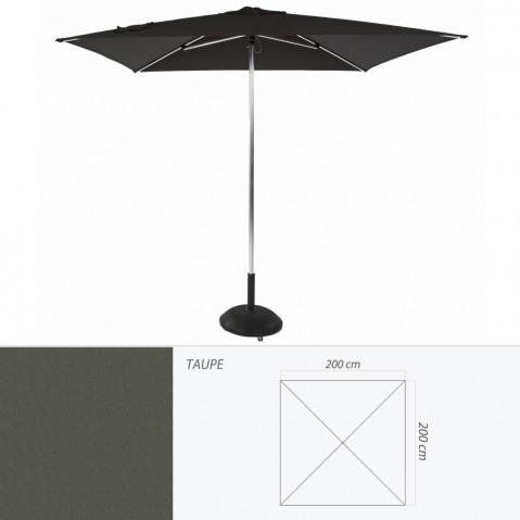 Parasol TIKI PUSH-UP de Jardinico carré 200x200 taupe