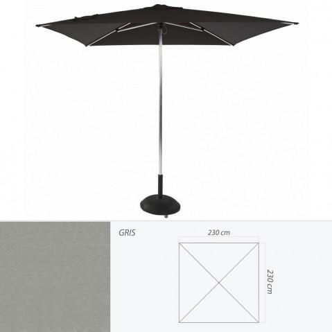 Parasol TIKI PUSH-UP de Jardinico carré 230x230 gris