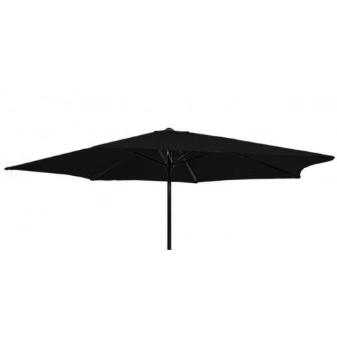 Parasol rond GEDEON en aluminium, Noir