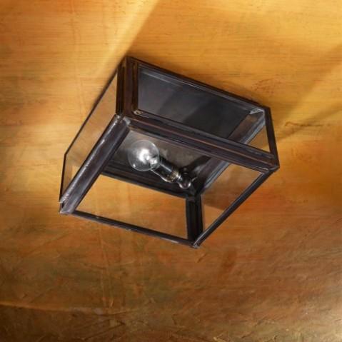 Plafonnier Nautic CHELSEA SMALL bronze antique verre clair