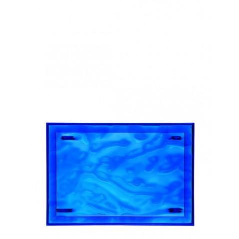 Plateau DUNE de Kartell, Bleu, L.55 X H.3 X P.38